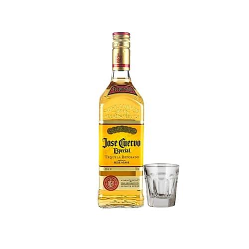 Tequila JOSÉ CUERVO Especial Reposado Botella 750ml + Shot Tequilero