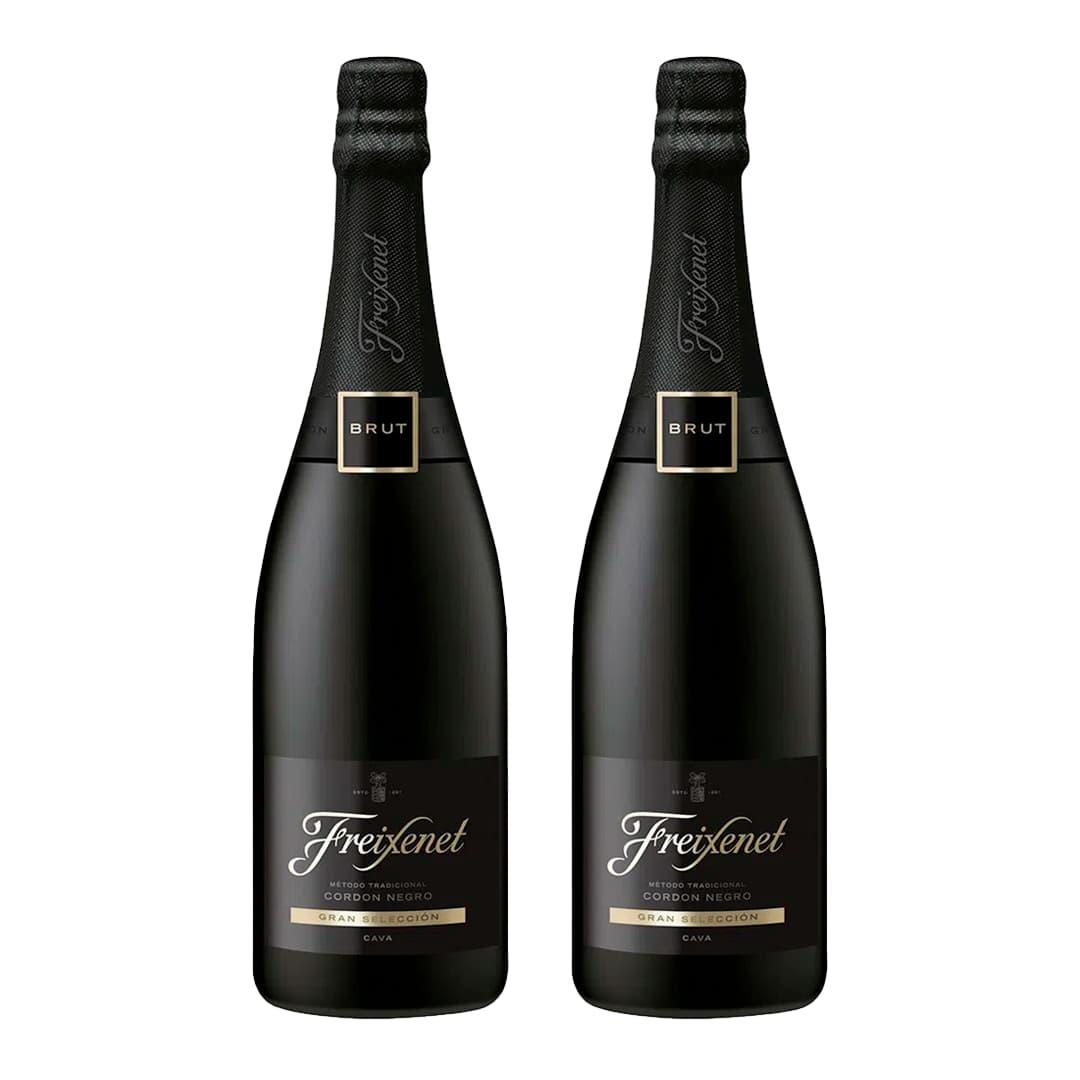 2 Espumantes FREIXENET Cordón Negro Brut Botella 750ml