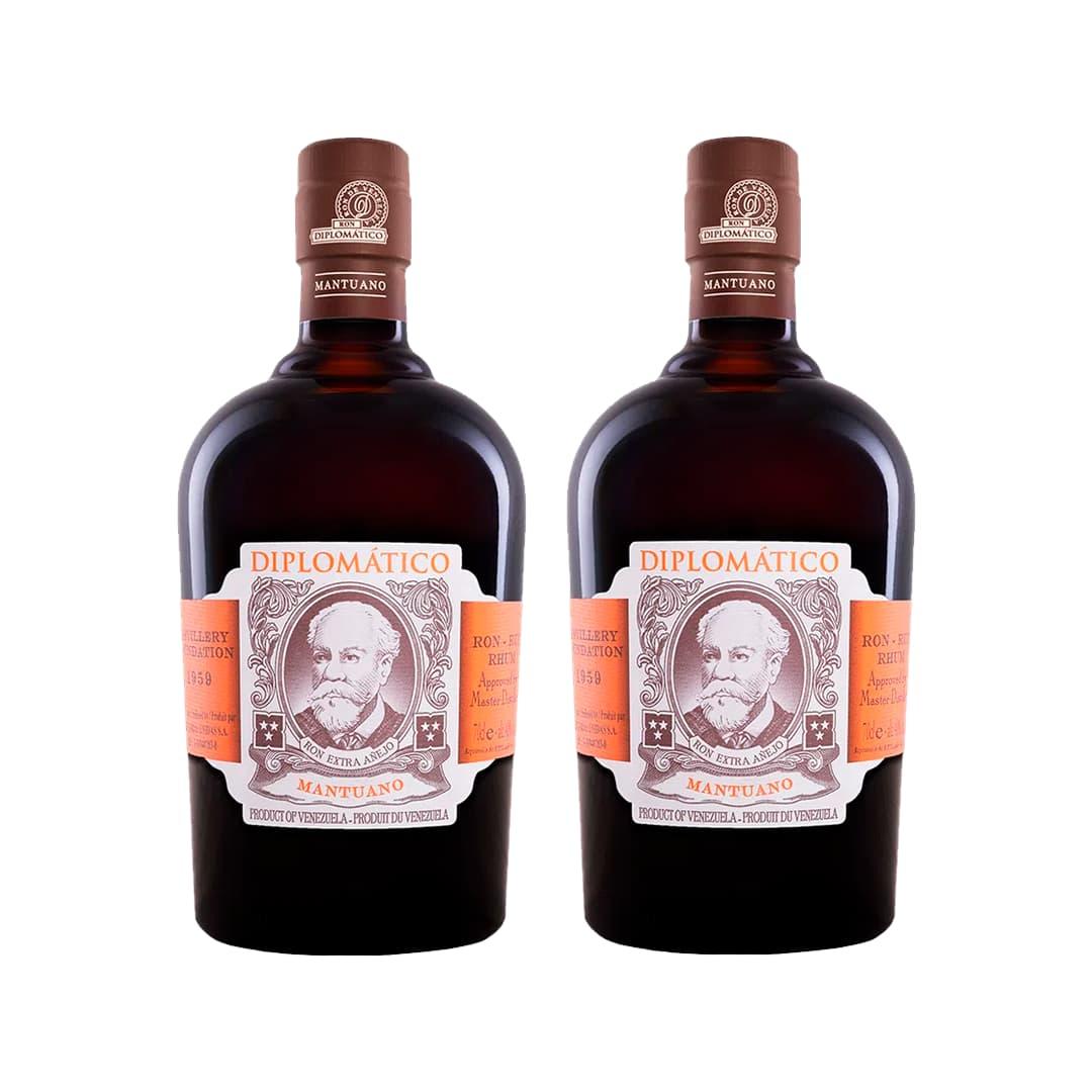 2 Rones DIPLOMATICO Mantuano Botella 750ml