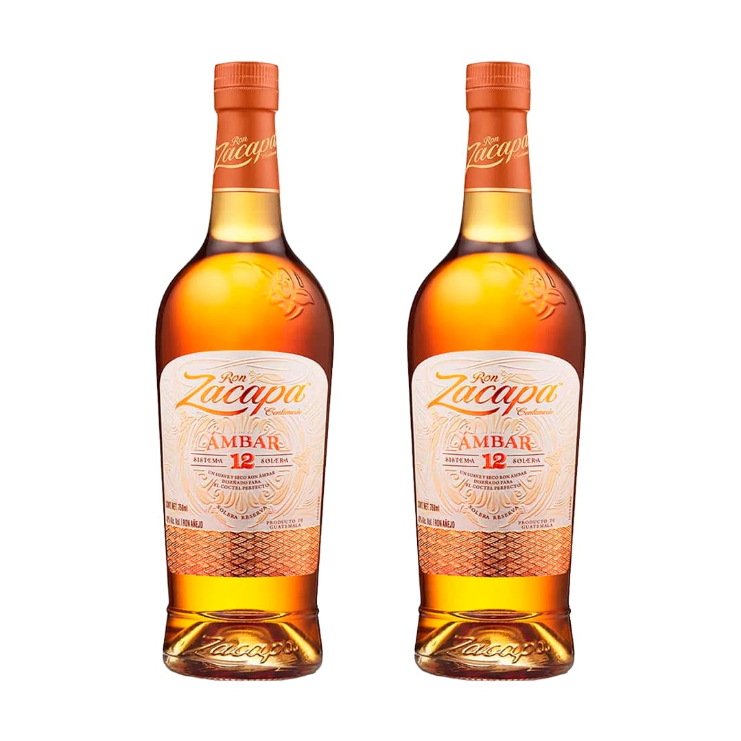 2 Rones ZACAPA Ámbar Botella 750ml