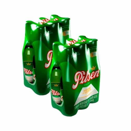 2 Six Pack Cerveza PILSEN Botella 310ml