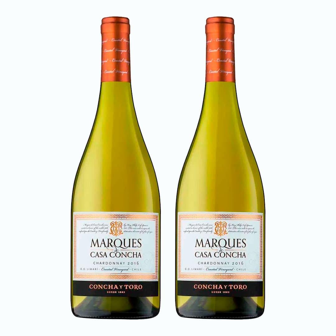 2 Vinos MARQUES DE CASA CONCHA Chardonay Botella 750ml