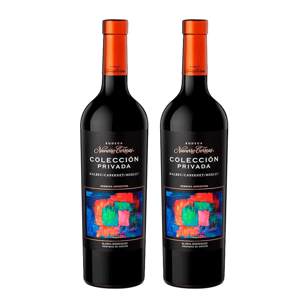 2 Vinos NAVARRO CORREAS Colección Privada Blend Botella 750ml