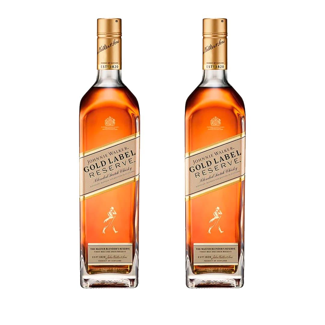 2 Whiskys JOHNNIE WALKER Gold Label Botella 750ml