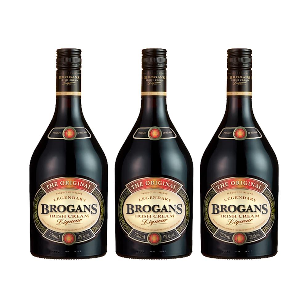 3 Crema de Whisky BROGANS Irish Cream Botella 750ml