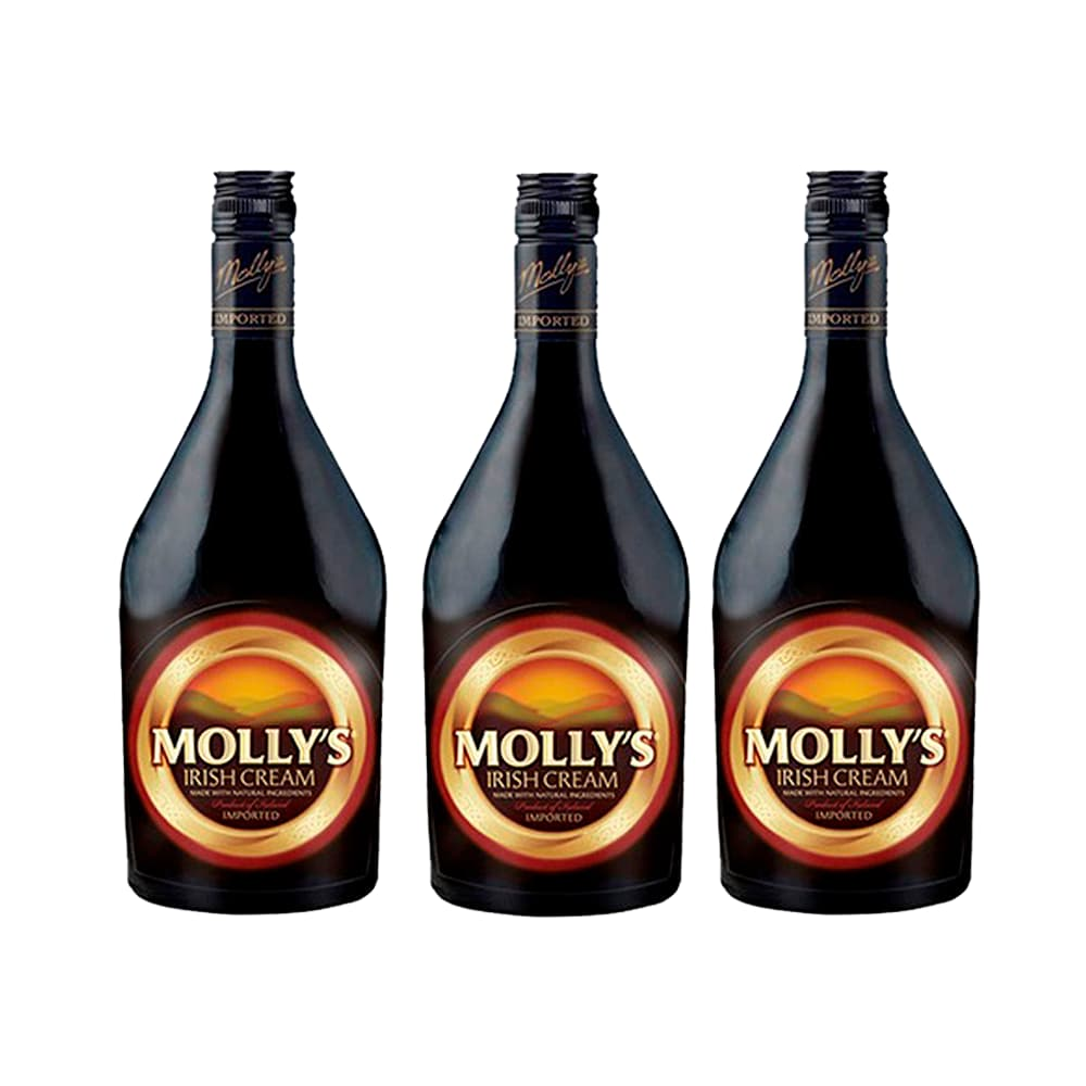 3 Cremas de Whisky MOLLYS Botella 700ml
