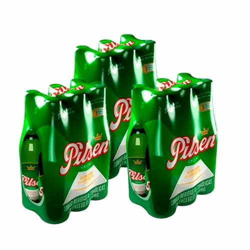 3 Six Pack Cerveza PILSEN Botella 310ml
