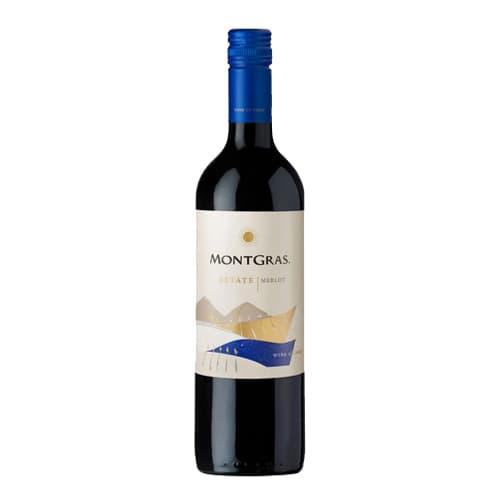 Vino MONTGRAS Estate Merlot Botella 750ml