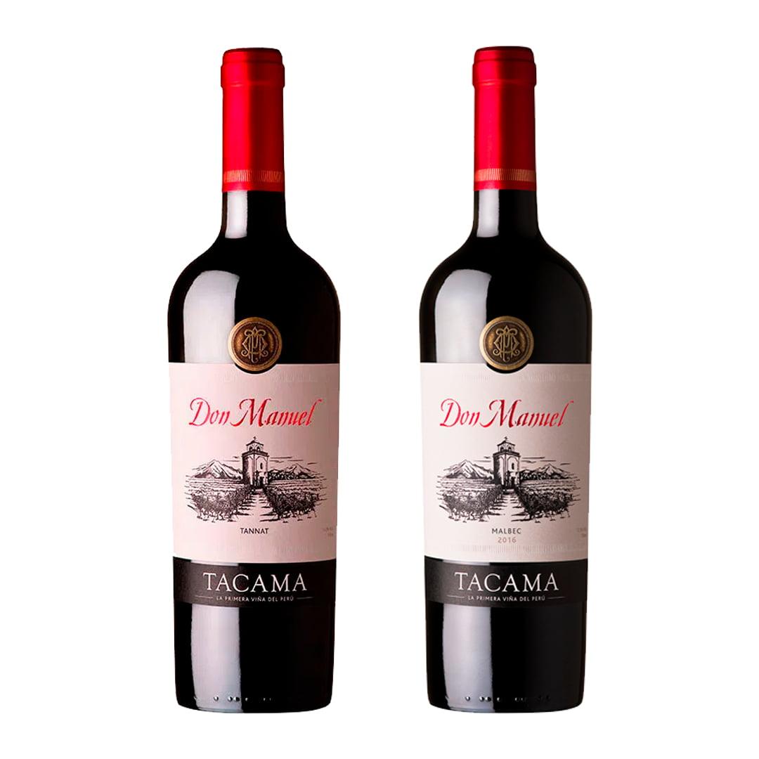 Vino TACAMA Don Manuel Tannat Botella 750ml + Vino TACAMA Don Manuel Malbec Botella 750ml
