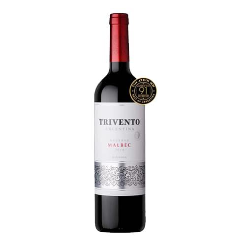 Vino TRIVENTO Reserva Malbec Botella 750ml