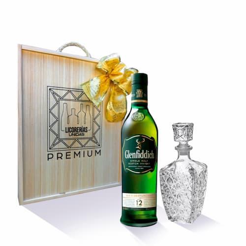 Whisky GLENFIDDICH 12 Años Botella 750ml + Caja + Licorera