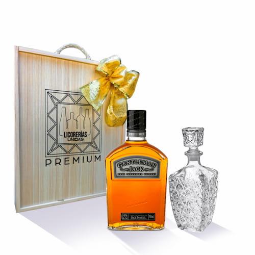 Whisky JACK DANIELS Gentleman Botella 750ml + Caja + Licorera