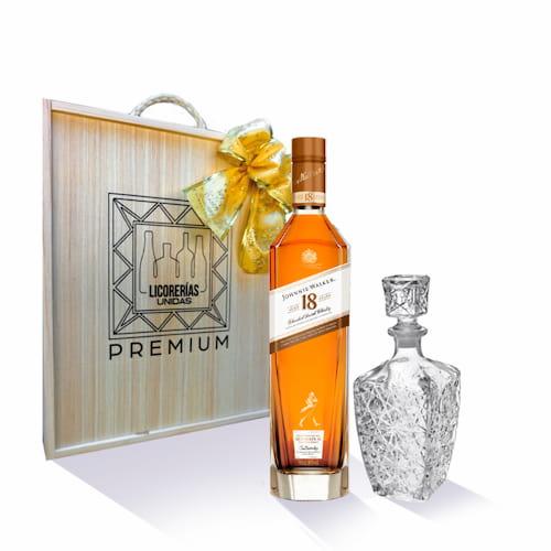Whisky JOHNNIE WALKER 18 Años Botella 750ml + Caja + Licorera