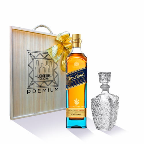 Whisky JOHNNIE WALKER Blue Label Botella 750ml + Caja + Licorera