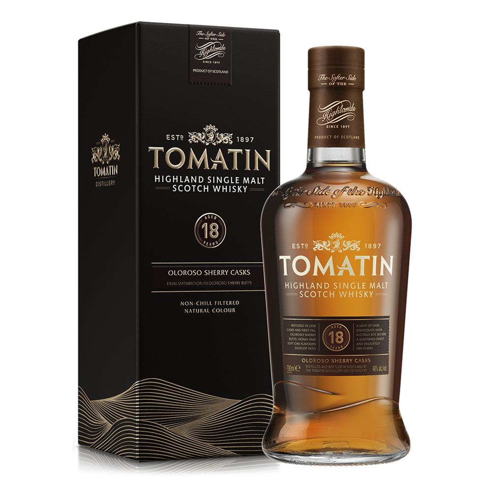 Whisky TOMATIN 18 Años Botella 700ml